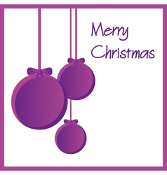 Three purple paper christmas decoration baubles vector