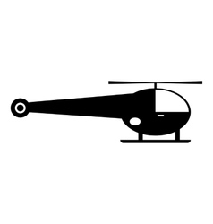 Helicopter icon simple style vector