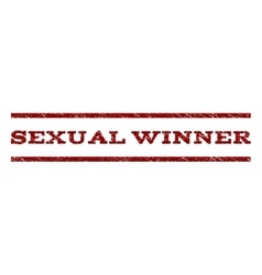 Sexual winner watermark stamp vector