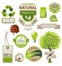 Eco emblems vector