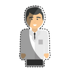 Specialist professional doctor with uniform vector
