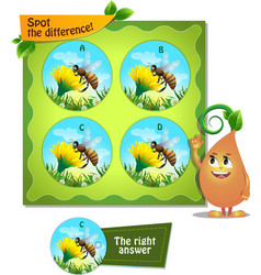 Bee spot the difference vector