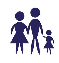 family pictogram icon design vector image