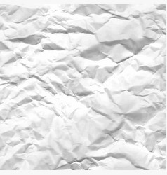 Texture of crumpled white paper vector