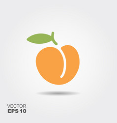 peach flat icon with shadow vector image