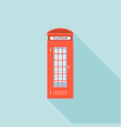 Red telephone box of london vector