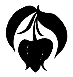 Decorative silhouette soursop bud vector