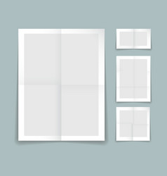 Folded paper template vector