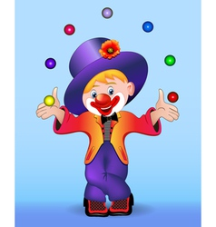 Young cheerful clown vector