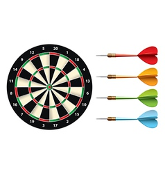 Darts set isolated vector