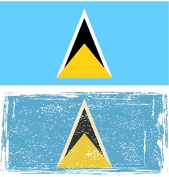 Saint lucia grunge flag vector
