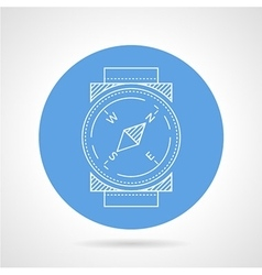 Compass blue round icon vector