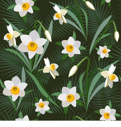 Seamless background from narcissus vector