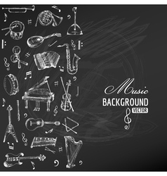 Music instruments background vector
