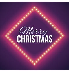 Congratulation to christmas with red lights vector