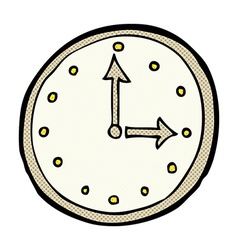 Comic cartoon clock symbol vector
