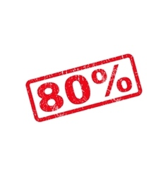 80 percent text rubber stamp vector