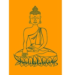Isolated statue of buddha vector
