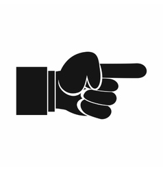 Pointing hand gesture icon simple style vector