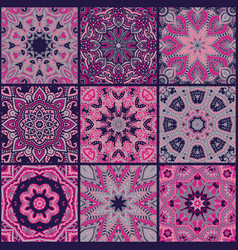 Abstract patchwork seamless pattern vector