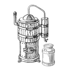 Alcohol distillation process vector