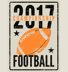 American football vintage grunge style poster vector