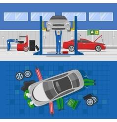 Auto service compositions vector