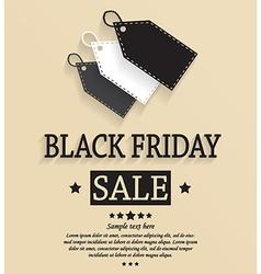 Black friday design vector image vector image