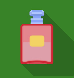 Bottle of french perfume icon in flat style vector