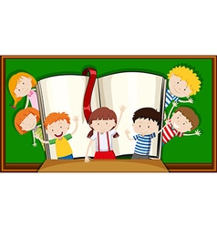 Boys and girls in the classroom vector image