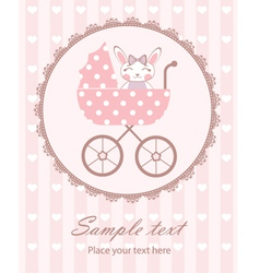 Bunny baby girl in frame vector image vector image