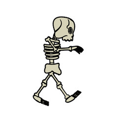 cartoon skeleton bones fairy tale vector image vector image