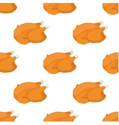 christmas turkey seamless pattern chicken vector image vector image