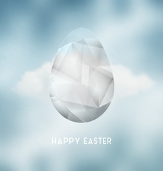 Easter Abstract Crystal Egg vector image vector image