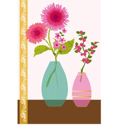 flowers and berries vector image vector image