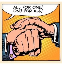 Friendship solidarity man hand vector