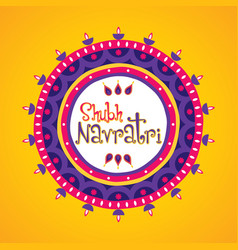 happy navratri greeting design vector image