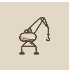 Harbor crane sketch icon vector