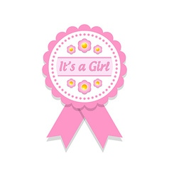 Its a girl badge vector