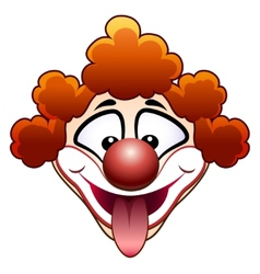 Joking circus clown head vector