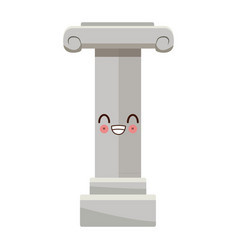 Kawaii decorative column cartoon icon vector