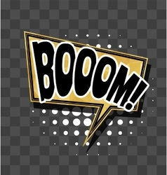 Lettering boom gold sparkle comic text vector