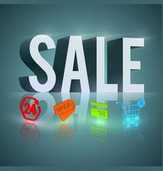 light word sale vector image