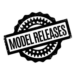 Model releases rubber stamp vector