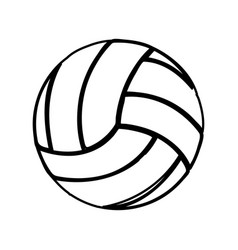 monochrome contour of volleyball ball vector image vector image