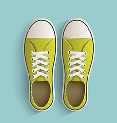 Old vintage sneakers vector image