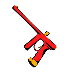 paintball gun icon cartoon vector image