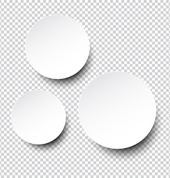 Paper white round blank notes vector image