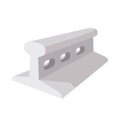 Rail for railway construction cartoon icon vector