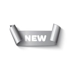 Realistic silver paper ribbon vector